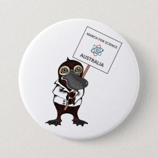Badge Rond 7,6 Cm Mars pour la Science Australie - ornithorynques -