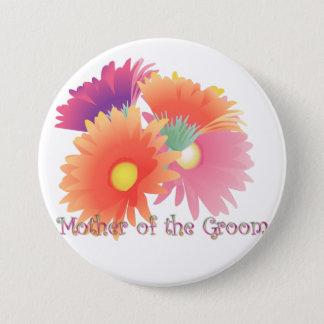 Badge Rond 7,6 Cm Mère intelligente de marguerite de KRW du marié
