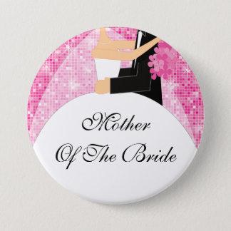 Badge Rond 7,6 Cm Mère scintillante du rose du bouton de jeune