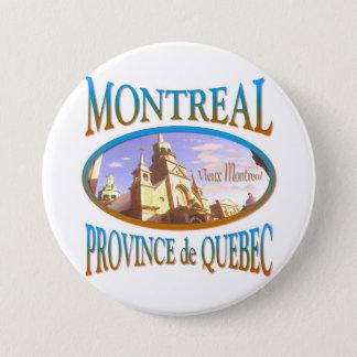 Badge Rond 7,6 Cm Montréal Canada