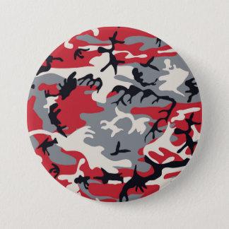Badge Rond 7,6 Cm Motif gris rouge de camouflage de Camo