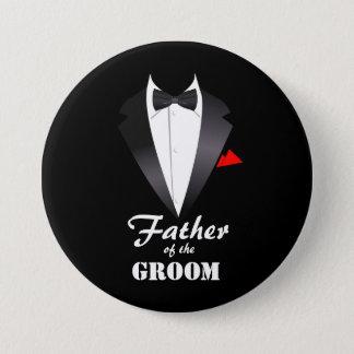 Badge Rond 7,6 Cm Père du marié avec la chemise de smoking - bouton