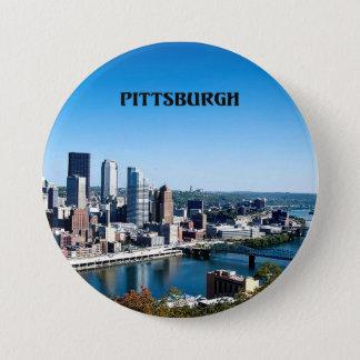 Badge Rond 7,6 Cm Photographie d'horizon de Pittsburgh, Pennsylvanie