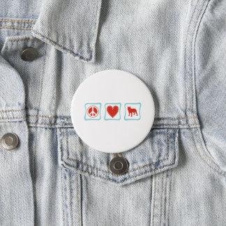 Badge Rond 7,6 Cm Pitbulls d'amour de paix