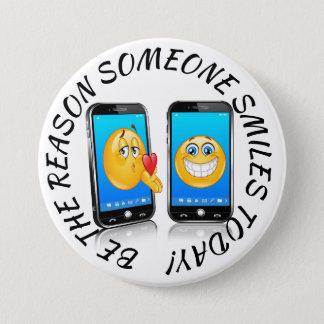 Badge Rond 7,6 Cm Soyez la raison que quelqu'un sourit bouton
