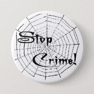 Badge Rond 7,6 Cm Toile d'araignée