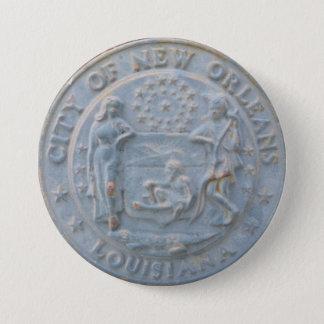 Badge Rond 7,6 Cm Ville de la Nouvelle-Orléans (bouton rond)