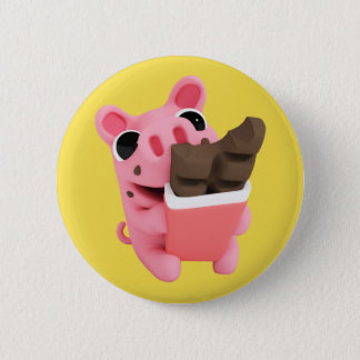 Badge Rosa the Pig Chocolate
