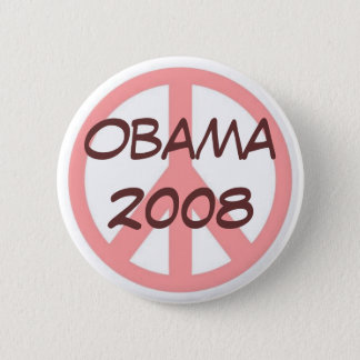 Badge Rose de bouton d'Obama 2008 Brown
