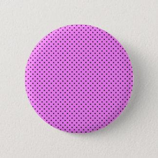 Badge Rose de Bubblegum et petit motif de pois noir