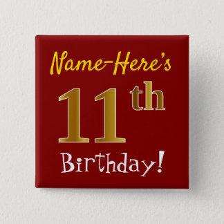 Badge Rouge, anniversaire d'or de Faux 11ème, avec le