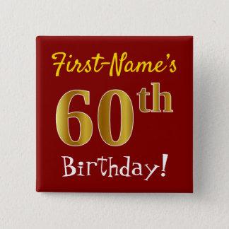Badge Rouge, anniversaire d'or de Faux soixantième, avec