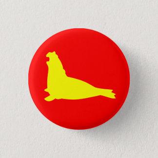 Badge Rouge de jaune de bouton de joint d'éléphant