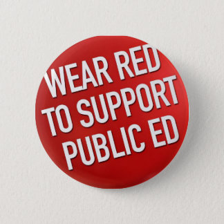 Badge Rouge d'usage pour soutenir Ed public