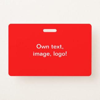 Badge Rouge horizontal d'insigne uni