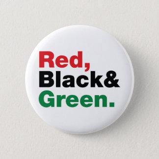 Badge Rouge, noir et vert