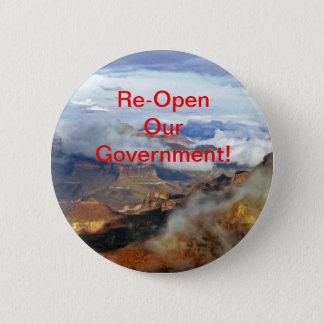 Badge Rouvrez notre bouton de gouvernement, Pin