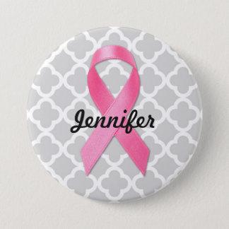 Badge Ruban de conscience de cancer du sein personnalisé