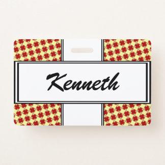 Badge Ruban de trèfle de Bourgogne par Kenneth Yoncich