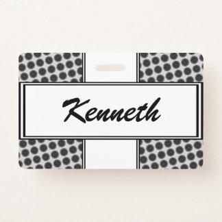 Badge Ruban noir de fleur par Kenneth Yoncich