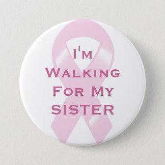 Badge Ruban rose de KRW marchant pour la soeur