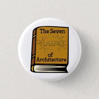 Badge Ruskin les sept lampes du Pin de livre