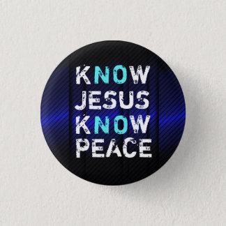 Badge Sachez que Jésus connaissent le bouton de paix