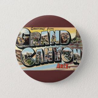 Badge Salutations vintages de voyage de canyon grand