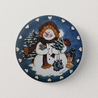Badge Sammy le Pin de bouton de bonhomme de neige