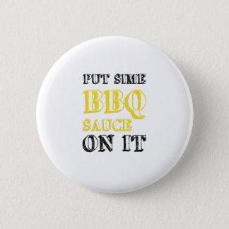 Badge Sauce barbecue à BBQ là-dessus grillant le cadeau