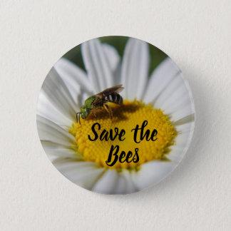 Badge Sauvez le bouton d'abeilles