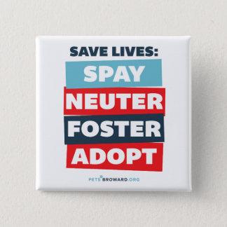 Badge Sauvez le bouton des vies