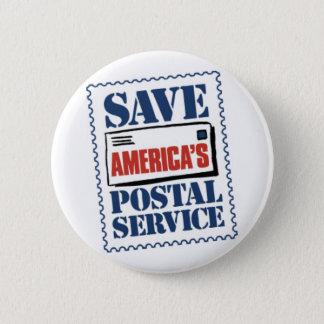 Badge Sauvez le service postal de l'Amérique