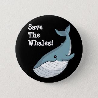 Badge Sauvez les baleines