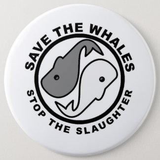 Badge Sauvez les baleines - droits des animaux