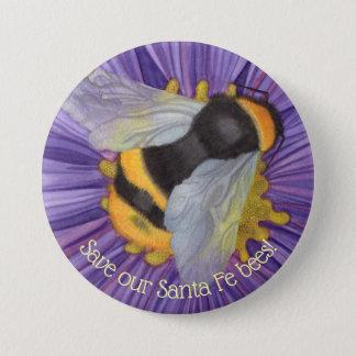 Badge Sauvez notre bouton personnalisé par abeilles
