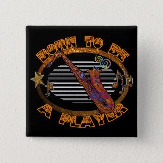 Badge Saxophone ID281 de joueur