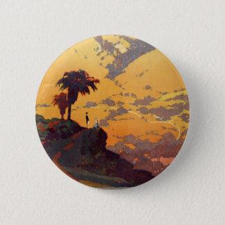 Badge Scène vintage d'affiche de tourisme de la