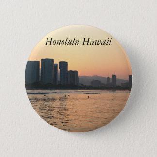 Badge Scènes de bouton d'Hawaï