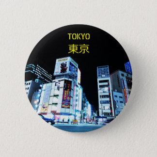 Badge Secteur de Ginza à Tokyo, Japon la nuit