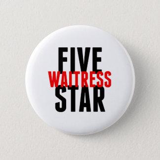 Badge Serveuse de cinq étoiles