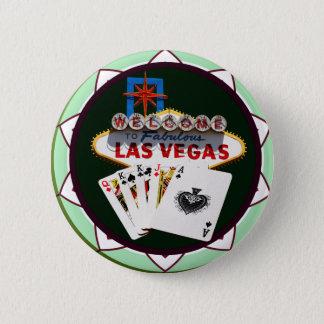 Badge Signe de Las Vegas et jeton de poker de cartes