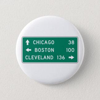 Badge Signe de route de Chicago Boston Cleveland