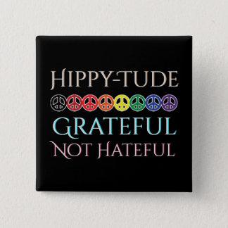 Badge Signes de paix reconnaissants de Tude de hippie