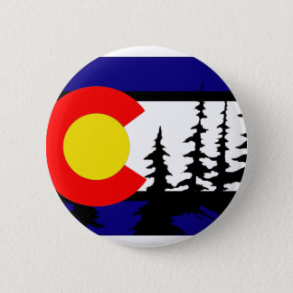 Badge Silhouette d'arbre de drapeau du Colorado