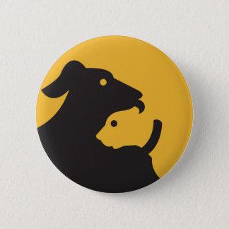 Badge Silhouette de chat et de chien