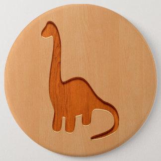 Badge Silhouette de dinosaure gravée sur la conception