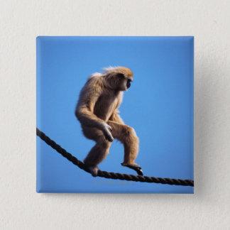 Badge singe marchant sur la corde