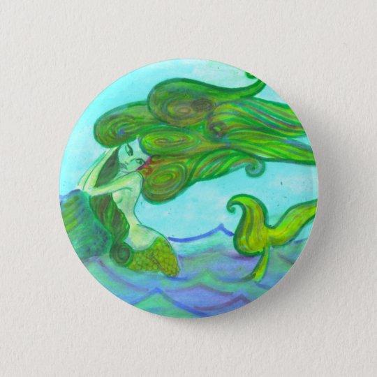 Badge sirène au rocher