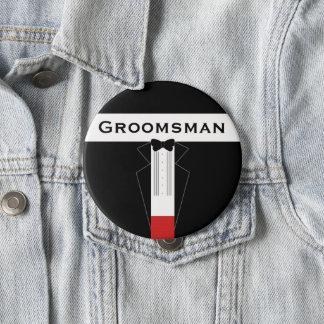 Badge Smoking Groomsman épousant le bouton